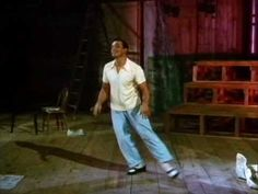 Creativity at its finest. Take a creaky floorboard and a newspaper and make an entire dance routine around it.