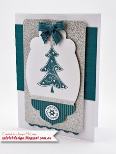 Splotch Design - Jacquii McLeay - Stampin Up - Season of Joy Christmas Card Handmade Christmas Crafts, Christmas Paper Crafts, Christmas Tree Cards, Stampin Up Christmas, Christmas Gift Tags, Holiday Cards, Christmas Cards, White Christmas, Christmas 2016
