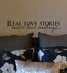 "Weekly $2 Facebook Deal (Real Love Stories never have endings 23"" x 5"")"