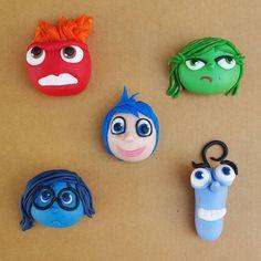 """Intensamente/ Inside Out Cake Toppers! #intensamente #insideout #anger #disgust #sadness #fear #joy #pixar #cake #toppers #cupcakes #fondantart #fondant…"""