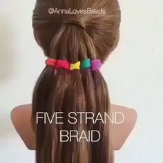 How to do five stand braid! - How to do five stand braid! Julia Goodsell Hair tutorial videos diy lovely hairstyle hairdo braid gorgeous stunning perfect haircut hair color long hair stylish classy elegance short - - Tips and İdeas - Pretty Hairstyles, Braided Hairstyles, Long Hair Hairdos, How To Do Hairstyles, Hairdo For Long Hair, Girls Hairdos, Classy Hairstyles, Kid Hair, Toddler Hairstyles