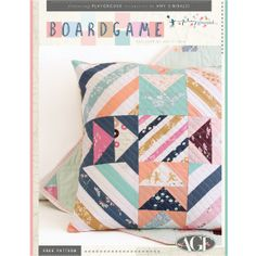 BoardGame Pillow Free pattern Instructions! check out website for more free…