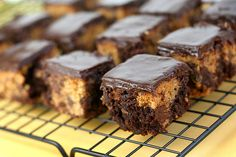 chocolate chip cookie dough brownies.  cookie and brownie with chocolate on top? Yes please!