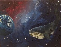 Whales In Space by LittlWildThings on Etsy