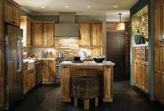 möbel landhausstil holzschränke kücheninsel küche einrichten