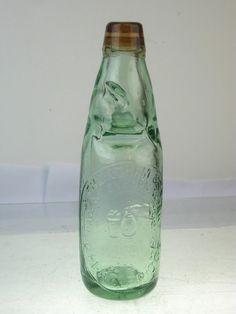Old Glass Bottle - Codd Mineral Water Strentham Red Lip Great Bridge   eBay