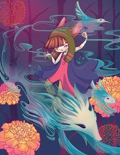 Открытие внутренней сказки: добрые иллюстрации Lorena Alvarez Gomez - Ярмарка Мастеров - ручная работа, handmade Art And Illustration, Illustrations And Posters, Kunstjournal Inspiration, Art Journal Inspiration, Inspirational Artwork, Fantasy Kunst, Fantasy Art, Game Concept Art, Cute Art