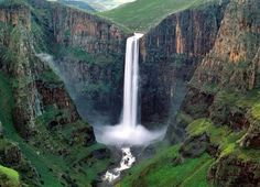 The Mutarazi Falls is located in a tiny National Park on the southern border of the Nyanga National Park in Zimbabwe