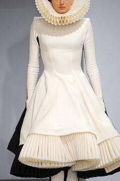 White elizabethan dress