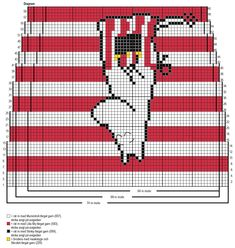 Knitted Mittens Pattern, Knitting Paterns, Knitting Charts, Lace Knitting, Knitting Socks, Loom Crochet, Crochet Chart, Crochet Patterns, Blackwork Embroidery