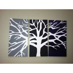 3 canvas Tree painting