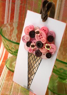 Ice Cream Cone Tag by psitsinthedetails on Etsy