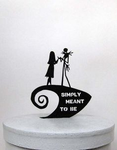 Wedding Cake Topper -The Nightmare Before Christmas with Simply Meant to Be