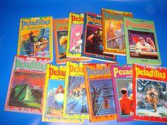 Lote de libros PESADILLAS-12 tomos R.L. Stine-buen estado!!