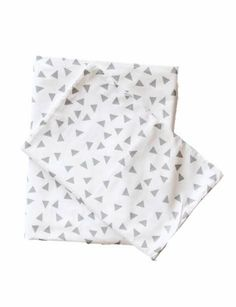 Items similar to Grey Triangle - Baby and Kids Bedding on Etsy