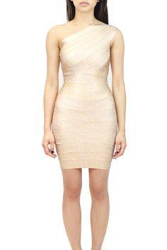 One Shoulder Bandage Dress  oakandstate.com