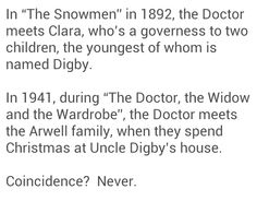 """I thought exactly that when I rewatched """"The Snowmen"""" a few hours after the premiere..."""