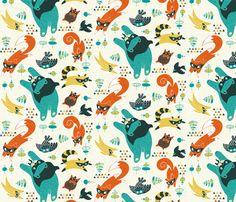 Be My Hero fabric by melisza on Spoonflower - custom fabric