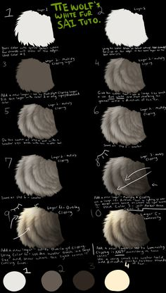 Tiewolfs White Fur SAI Tutorial by ~TieWolf on deviantART ✤ || CHARACTER DESIGN…