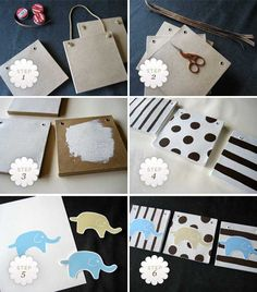 DIY nursery art - in yellow, grey a and turquoise with fabric elephants and maybe one in chevron background?
