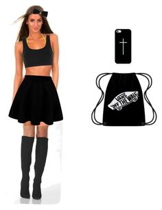 """Black outfit "" by nbacovska on Polyvore featuring adidas Originals, Casetify and Chanel"