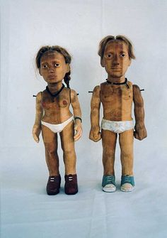 claudette schreuders Creepy Toys, The Cosby Show, South African Art, Elves And Fairies, Double Trouble, Artist Art, Sculpture Art, Cool Art, Contemporary Art