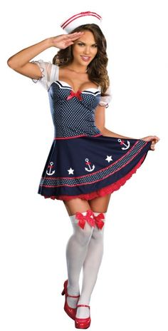 Shop our huge selection of Sailor costumes! We have Sailor costumes, First Mate costumes, Cadet costumes and more. Buy your Sailor costume from the costume authority at Halloween Express. Sailor Halloween Costumes, Girl Costumes, Costumes For Women, Adult Costumes, Girl Halloween, Funny Costumes, Fantasy Costumes, Halloween Season, Halloween Outfits