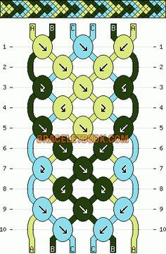 Normal Friendship Bracelet Pattern #6948 - BraceletBook.com