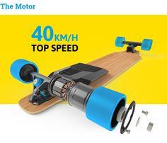 El motor eléctrico para skateboards