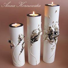 Świeczniki - komplet Blossom