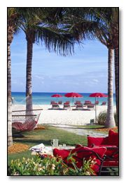 Acqualina Resort and Spa on the Beach, Sunny Isles Beach, FL \\ Within a 15 mile radius, there are five world-class and championship-level golf courses where Miami Beach vacationers are welcome to hit the links.