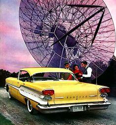 Pontiac with a Radio Telescope 1958
