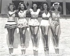 Beach wear, c. 1940s. I thought this was cute...