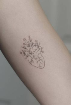 Linework heart tattoo designs