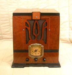 Old Antique Wood Supertone Vintage Tube Radio Restored Working Deco Tombstone | eBay