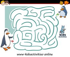 Funny mazes for kids printable Maze Games For Kids, Puzzles For Kids, Activities For Kids, Mazes For Kids Printable, Timetable Template, Maze Puzzles, Baby Penguins, Activity Games, Kids Rugs
