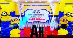 Birthday party ideas in chennai event Organizers in chennai theme party Organisers in chennai minions theme in chennai balloon decorations in chennai Balloon Decorations, Birthday Party Decorations, Party Themes, Birthday Parties, Party Ideas, Minion Theme, Minion Birthday, It's Your Birthday, Minion Balloons