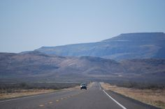 Scenic shot on the highway - think this might be out in Texas' Davis Mountains, or New Mexico.