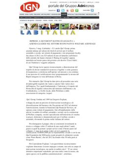 adn-kronos it-03/05/13 qui group rating by Gregorio Fogliani via Slideshare
