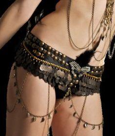 Tribal Fusion belly Dance Belt | BellyByLucyALia - Accessories on ArtFire