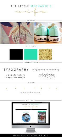 Custom blog design board / branding / lifestyle blog design / designed by http://www.noorsplace.com/