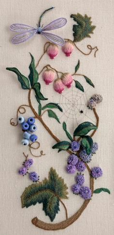 Объемная вышивка. Бабочки в вышивке гладью (24) (341x700, 222Kb)
