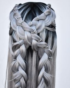 The hairstyle of women who want to recreate their style hairstyles, hairstyles for medium length hai. Braids For Medium Length Hair, Long Hair Cuts, Coachella Hair, Thin Hair Haircuts, Types Of Braids, Festival Hair, Hair Brained, Hairstyles For School, Braid Styles