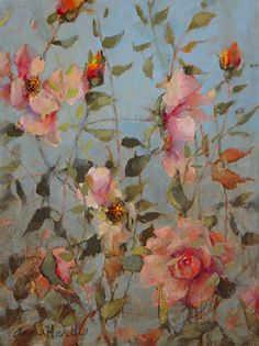 Roses Done in Plein Aire by Ann Hardy Oil ~ 12 x 16