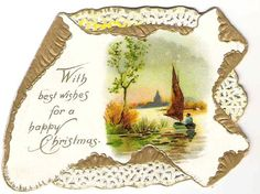 Victorian Style Christmas Cards | Victorian English Christmas Card - embossed & pierced - I love Victorian cards!