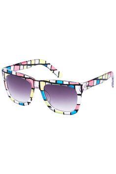 #Romwe Colorful Big Frame Sunglasses