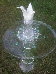Designs with Flare. Bird feeder yard art.