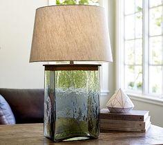 Webster Glass Table Lamp Base #potterybarn, LOVE