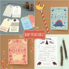 FREE Baby Cards, Tags and Template Printables! #printables