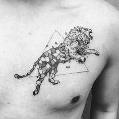 WEBSTA @ italianjeweler - #bestia #geometrica #tatuaggio #kerbyrosanes #lion #leone #liontattoo
